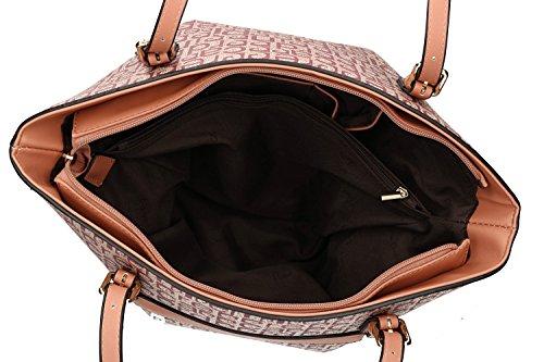 Borsa donna a spalla PIERRE CARDIN rosa con apertura zip VN1213