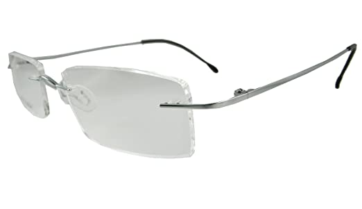 Amazon.com: Rimless beta Titanium Eyeglass frames light weight ...