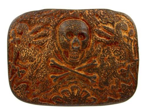 Belt Buckles Accessories Skull (Italian Artisan Crafted Belt Buckle - Ancient Skull Relic)