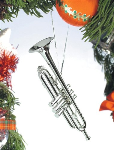 Silver Music Trumpet Musical Instrument Ornament New