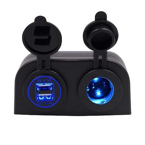 TurnRaise - Adaptador cargador USB y mechero de auto ...