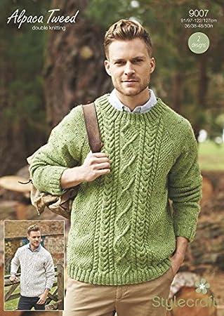 Amazon Stylecraft Mens Sweaters Alpaca Tweed Knitting Pattern