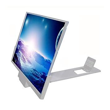 DAMAI 3D Universal Celular Pantalla Amplificador Smartphone HD Movie Video Amplificador con Soporte Plegable Soporte,