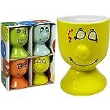 Ki Funny Face–Set de 4coquetiers en porcelaine