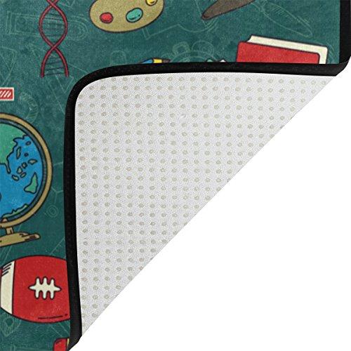 Cooper girl Back To School Waterproof Shower Curtain and Doormat Bath Floor Mat Sets by ALAZA (Image #6)