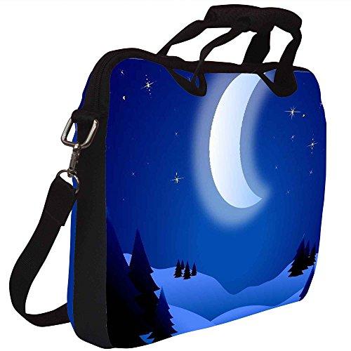 Snoogg Helle Nacht Gedruckt Notebook-Tasche mit Schultergurt 15 bis 15,6 Zoll