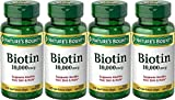 Nature's Bounty Biotin 10000 mcg Ultra Strength - 120 Softgels, Pack of 4