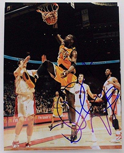 Johan Petro Sonics Nets Nuggets Nba Autograph 8X10 Photo Signed 16B