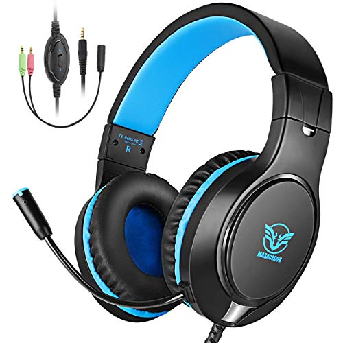 - Meedasy Gaming Headset for PS4, Xbox One, PC, Nintendo Switch, Bass Surrounding Stereo Over-Ear Headphone with Noise Canceling, Adjustable Headband, 3.5mm Jack, Mic, Volume Control for iPad, Laptop