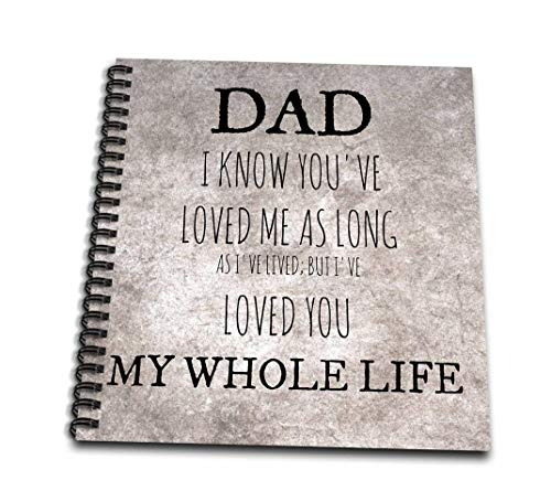 3dRose db_219962_3 Dad-Love You My Whole Life, Brown Background-Mini Notepad, 4 by 4
