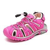DREAM PAIRS Boys Girls Little Kid 160912-K Fuchsia Coral Outdoor Summer Sandals Size 3 M US Little Kid