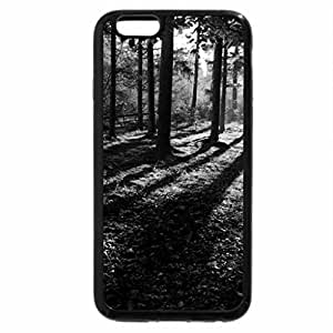 iPhone 6S Case, iPhone 6 Case (Black & White) - Beautiful Forest