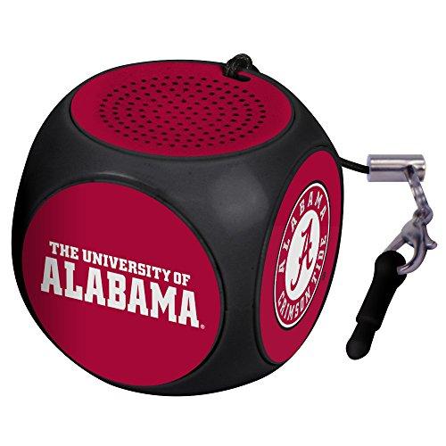 Alabama Crimson Tide Remote - AudioSpice NCAA Alabama Crimson Tide MX-100 Cubio Mini Bluetooth Speaker, Black, One Size