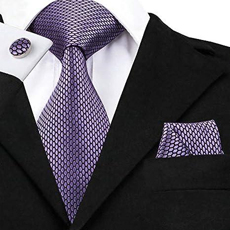 HYCZJH Patrón geométrico Conjunto de Corbata púrpura Diseñador de ...