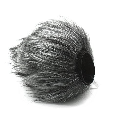 HUANOR HN-14 Furry Mic Microphone Windscreen Wind Cover for Zoom H2N Voice Recording Shotgun Recorder + CEARI Microfiber Cloth