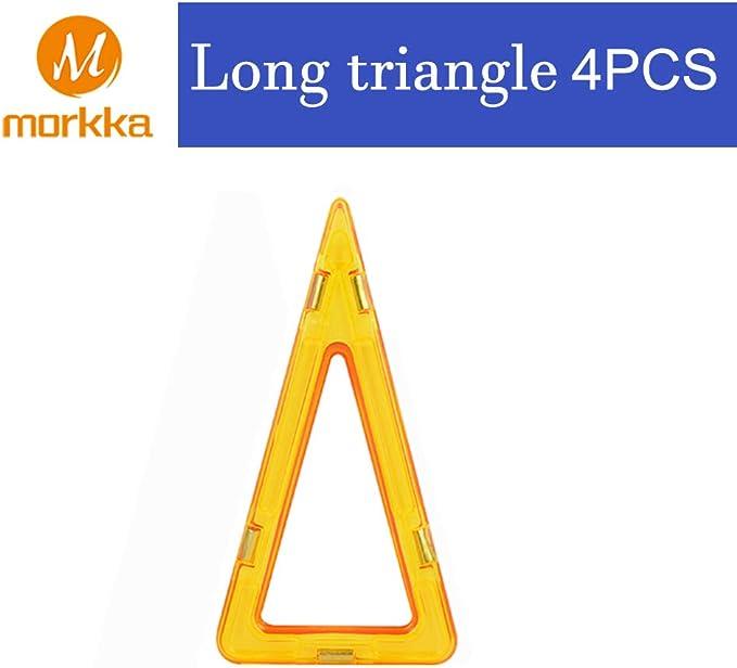 Image of Bloques de construcción de Bloques magnéticos de 64 Piezas Juegos educativos para niños, de Morcare Construction Building Sets (64 pcs) (Long Triangle)