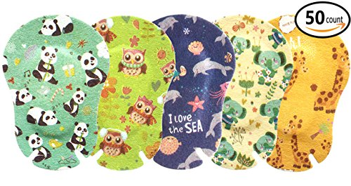 Egool Eye Patches for Kids, Treatment of Lazy Eye (Amblyopia), 5 Cute Animal Patterns, 50 Pack Individually Wrapped, Regular Size for Boys and Girls by EGOOL