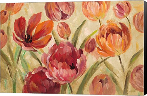 Expressive Tulips Neutral Silvia Vassileva Canvas Art Wall