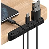2 Pack Cable Organizer Clips, Cable Management Cord Holder Self Adhesive Silicone Wire Holders for Organizing USB Charging Ca