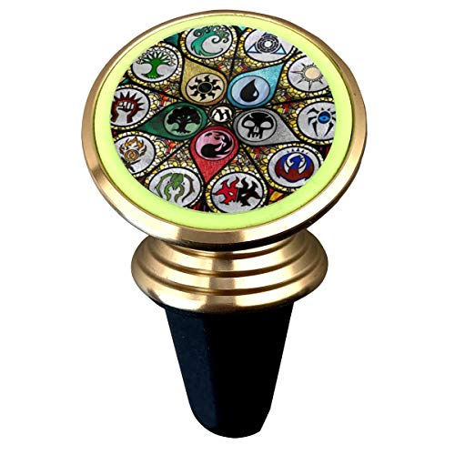 (MTG Stained Glass Magnetic Phone Car Mount Luminous Noctilucent Light Phone Holder )