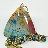 Dragons Vein Fire Agate Pendant Necklace