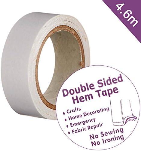 Hemline Fusible Hemming Web Tape 25mm x 10m No Sew Iron On Fabric Hems