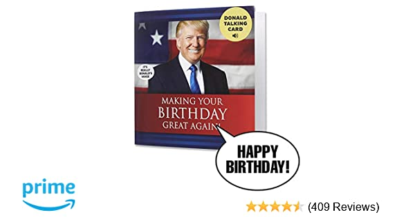 Amazon Talking Trump Birthday Card