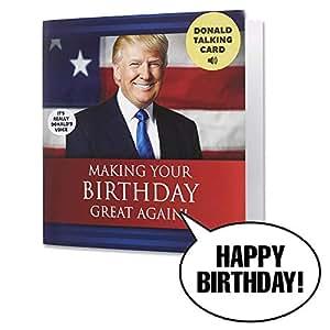 Amazon Talking Trump Birthday Card