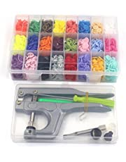360pcs T5 Snap Button & Snap Press Pliers Sets,Plastic Snaps for Clothing/Crafting and Storage Box Organizer 24 Colors by Allure Maek