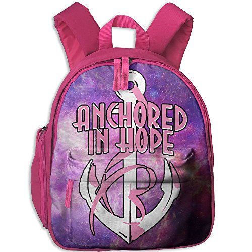 Anchored In Hope Pink Ribbon.PNG Toddler Kids Backpack Preschool Backpack Pink Mini - Png Kids Running