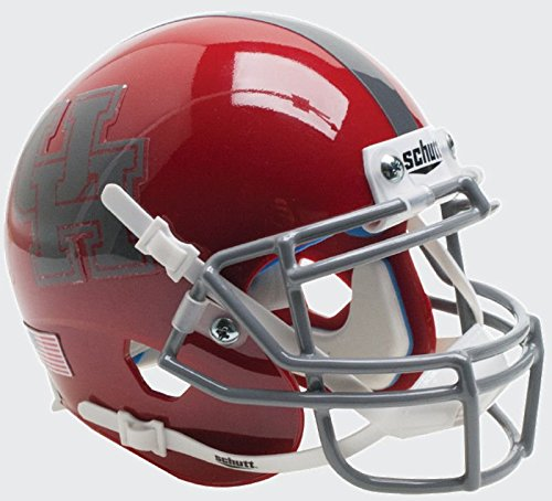 (Schutt NCAA Houston Cougars Replica XP Football Helmet, Red/Dark Gray 2016 Alt. 6)
