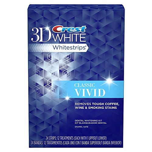 Crest 3D White Whitestrips Classic Vivid Teeth Whitening Kit, 12 Treatments - 24 Strips by Crest (Image #1)