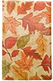 Bountiful Harvest Shades of Orange Fall Leaves Vinyl Tablecloth with Flannel Backing. Colorful Autumn Vinyl Tablecloth. (52'' x 90'' Oblong)