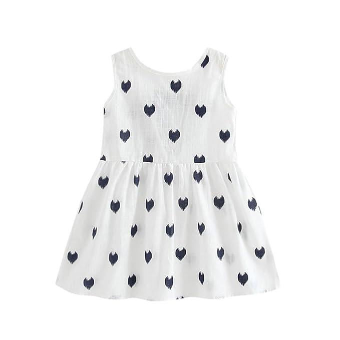 202a26655 IEason Toddler Girls Summer Princess Dress Kids Baby Party Wedding  Sleeveless Dresses 4T(3-