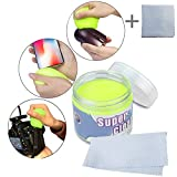 Electronic Product Cleaner Putty With Free Gift Microfiber Cleaning Cloth,Vjoy Reusable Dust Dirt Keyboard Cleaning Putty for PC Components, Mobile Phones and Other Electronic (Vjoy Cleaner Putty)