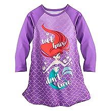 Ariel Nightshirt Disney Princess Little Girls Gown Nightgown Pajamas (2, Purple)