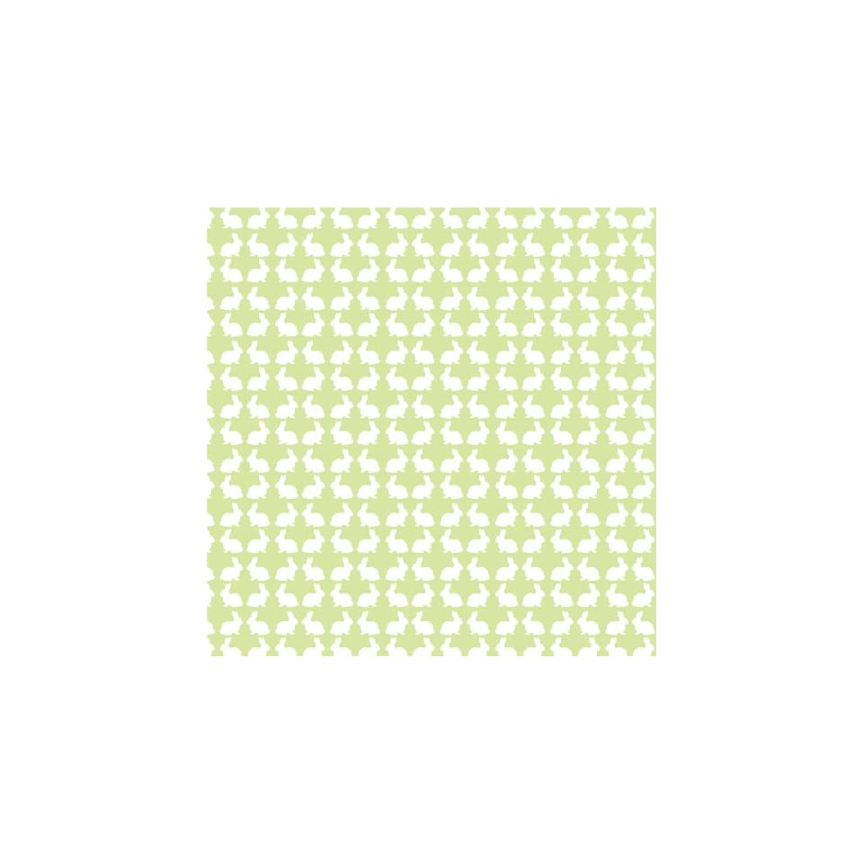 BUNNIES PASTEL GREEN & WHITE Vinyl Decal Sheets 12x12 x3 Great for Cricut or Silhouette Crafting