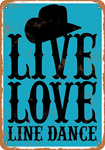 Wall-Color 10 x 14 Metal Sign - Live Love Line Dance - Vintage Look from Wall-Color