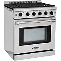 Thor Kitchen Stainless Steel Free Standing Gas Range 30 4.55 Cu. Ft Professional Kitchen Cooker