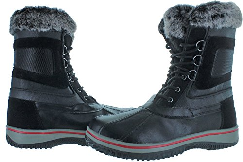 Revenant Mens Duck Teen Faux Fur Winter Snowboots Zwart