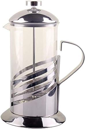 FYHKF Cafeteras de émbolo Cafetera Francesa de presión Máquina de té de Vidrio a Rayas Olla a presión Manual 304 Taza de Filtro de Acero Inoxidable 350ml: Amazon.es: Hogar