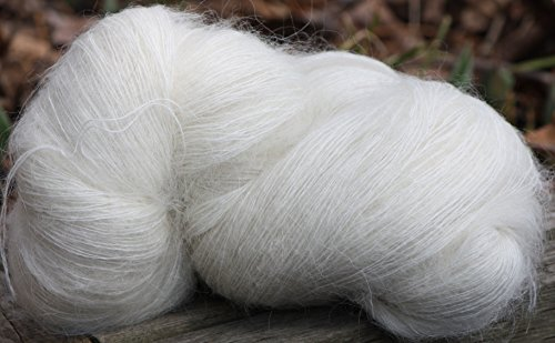 Kid Mohair Lace / Fingering Undyed Yarn For Knitting/Crochet. Made in Canada 1x115g / 4.06 oz - Kid Mohair Knitting Yarn