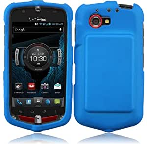 For Casio G'zOne Commando 4G LTE C811 Rubberized Hard Snap On Cover Case Cool Blue