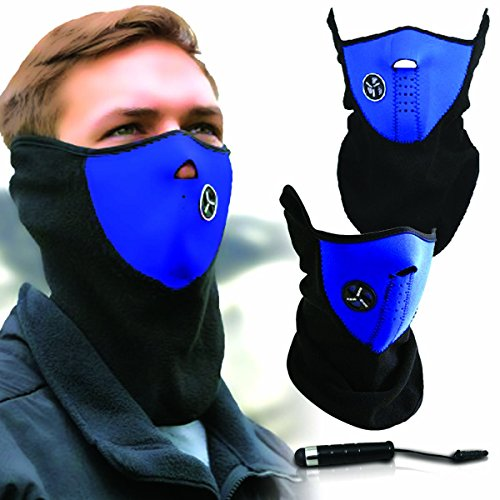 Unisex Ski Mask Neck Warmer, Neoprene Face Mask Winter Cold Weather Face Mask for Motorcycles, Bicycle, Skiing, Running Face Mask,Mountain Climbing - Balaclava Face Masks, jet ski mask Neoprene Neck Shield