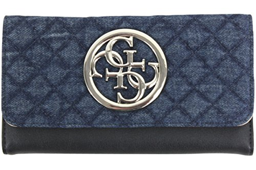 Guess Women's G Lux Denim Slim Clutch Tri-Fold ()
