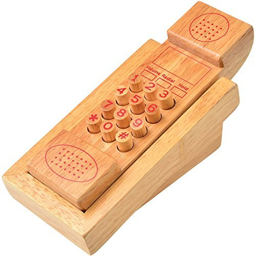 Children's Learning & Development Toys: Wooden Telephone Play Phone by Marvel