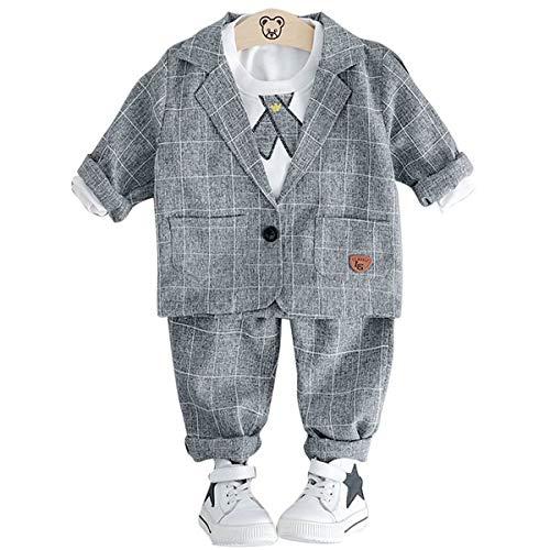 018cc758fd7b5 YY-Natuhi ベビー服 男の子 スーツ 三点セット フォーマル キッズ 紳士服 アウター シャツ パンツ