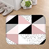 CqmzpdiC Geometric Oval Heart Soft Anti-Slip Door Mat Entrance Rug Kitchen Home Carpet Soft Anti-Static Strong Wear Resistance Durable Comfortable Practical Easy Washing Door Entrance Mat 7#