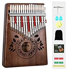 UNOKKI Kalimba 17 Keys Thumb Piano with ...