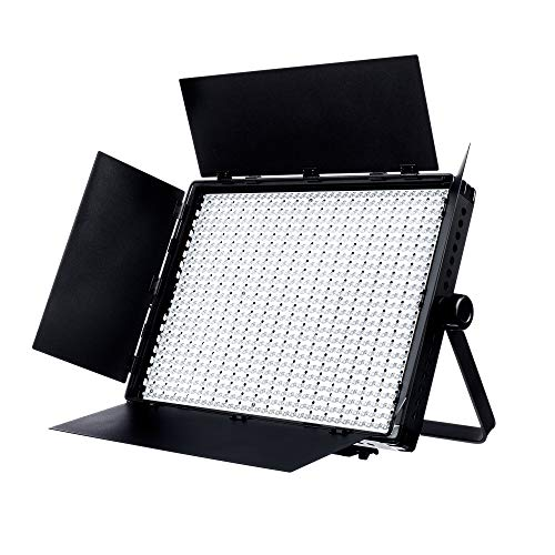Fovitec - 1x Photography & Video 2nd Gen Daylight 1200XD LED Panel w/Filters & Case - [95+ CRI][Continuous Lighting][Stepless ()